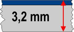 3,2 mm táblavastagság / 2 réteg