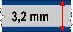 3,2 mm táblavastagság / 3 réteg