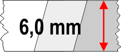 6,0 mm táblavastagság