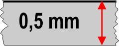 0,5 mm táblavastagság