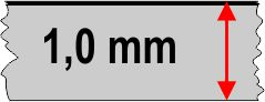 1,0 mm táblavastagság
