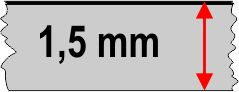 1,5 mm táblavastagság