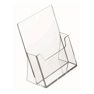 Szórólaptartó asztali A4