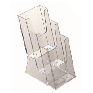 Szórólaptartó asztali A6 és 1/3 A4