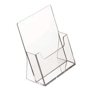 Szórólaptartó, asztali