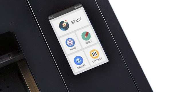 Flux lézergravírozó színes LCD érintőképernyő